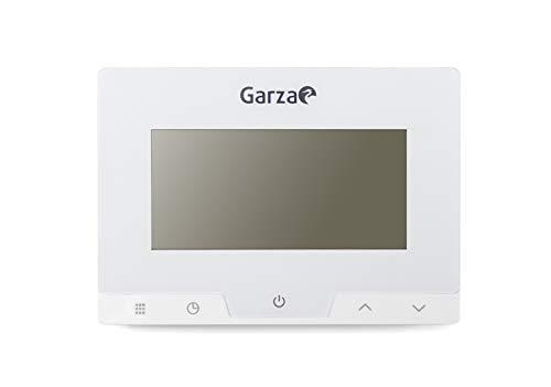 Garza 400616 Termostato Digital programable para Caldera y calefacción. Cronotermostato Controlador de Temperatura táctil, Blanco