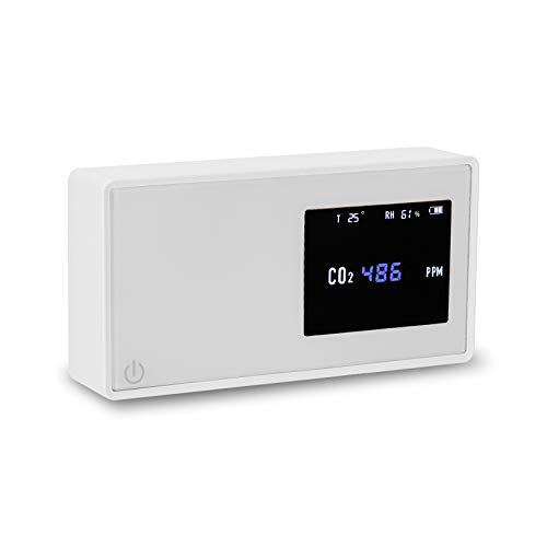 Kecheer Medidor dioxido carbono detector, Medidor co2/humedad/temperatura, Detector co2 portátil con termómetro/higrómetro