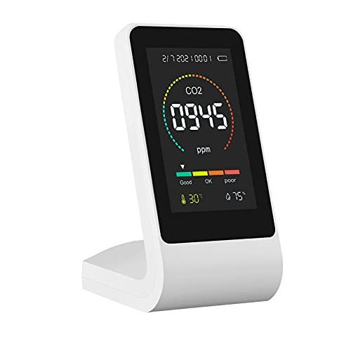DRXX Medidor de CO2 para Interiores, Detector Inteligente de dióxido de Carbono, medidor de dióxido de Carbono/Humedad/Temperatura de Calidad del Aire Interior para el hogar/Oficina/Laboratorio