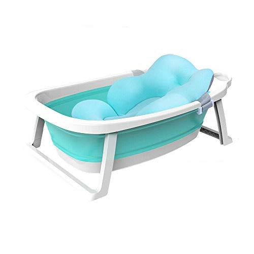 Babify Lagoon Bañera Plegable de Bebe con Cojín. Plegado ultra compacto - Cojin Reductor Incluido.