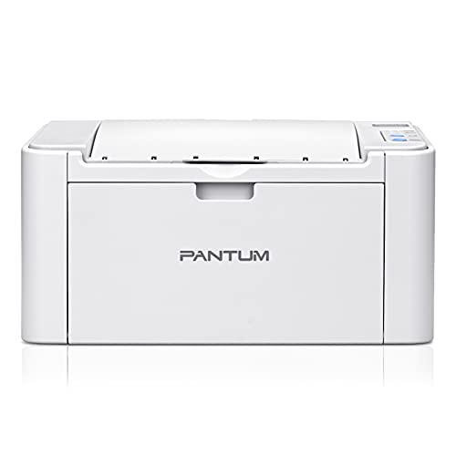 Pantum P2502W - Impresora láser láser monocromo inalámbrico, color blanco y negro A4 22 PPM – Función única para oficina pequeña/escuela y casa (blanco)