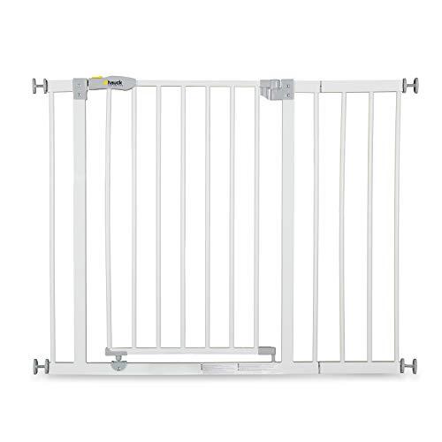 Hauck Barrera de Seguridad de Niños para Puertas y Escaleras Open N Stop Safety incl. Extension 21 cm, Sin Agujeros, 96 - 101 cm, Metal, Blanco