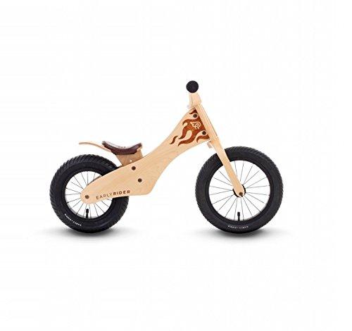 Detalles de la bicicleta sin pedales de madera Early Rider
