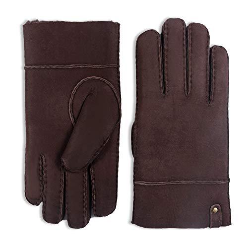 Detalles de los guantes de piel Yiseven Men Merino