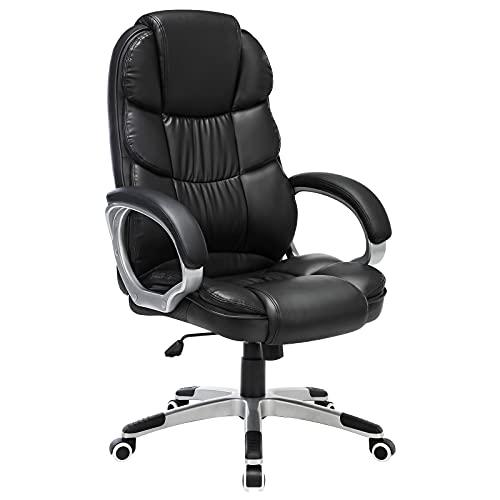 Descripción de la silla giratoria de oficina Songmics PU OBG24B