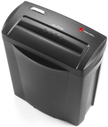 Detalles de la trituradora de papel Rexel Alpha