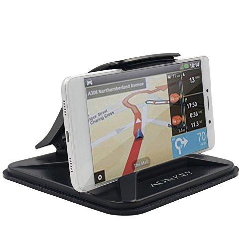 AONKEY Soporte Móvil Coche para Salpicadero, Car Mount Universal para iPhone X 8 Plus 7 Plus 6 6S Plus, Antideslizante Soporte del Coche para Galaxy Note S9 S8 Plus S7 Edge GPS y Otros Dispositivos