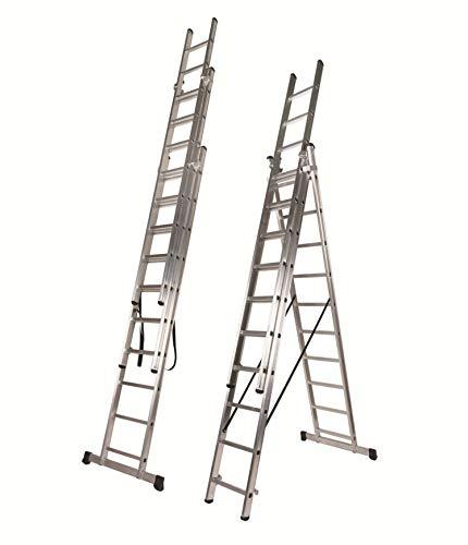 Descripción de la escalera plegable de tres tramos Nawa