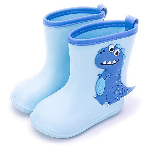 Gainsera Botas de Agua Impermeable y Antideslizante Caucho de EVA Botas de Lluvia para Niños y Niñas, Azul 180mm 27 EU