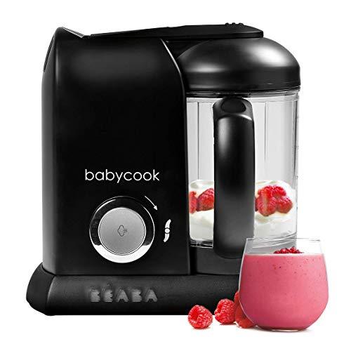 BÉABA Babycook Solo, Robot de cocina infantil 4 en 1, Tritura, cocina y cuece al vapor, Cocción rápida, Comida casera y deliciosa para bebés y niños, Comida variada para tu bebé, Negro