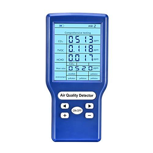 ETE ETMATE Medidor de Calidad del aire para Medidores de CO2 (HCHO) TVOC ppm, Detector de Dióxido de Carbono, Analizador de gas, Comprobador de Calidad de Aire