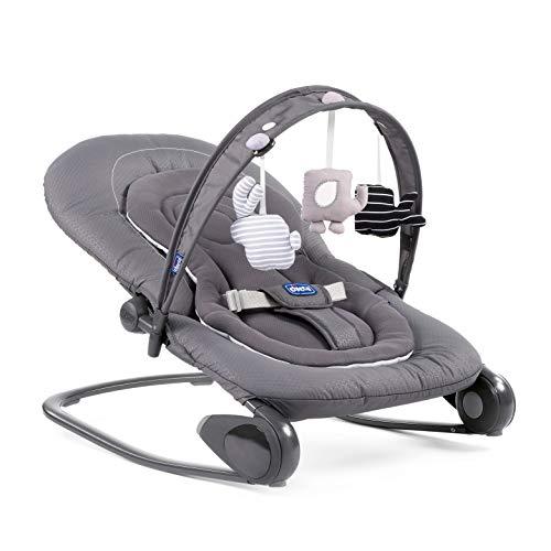 Chicco 79840770000 Hooplà, Hamaca para Bebé de 0 Meses a 18 kg, Gris (Moon )Grey