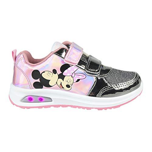 CERDÁ LIFE'S LITTLE MOMENTS Cerdá-Zapatilla con Luces Minnie Mouse de Color Rosa, Niñas, 28 EU