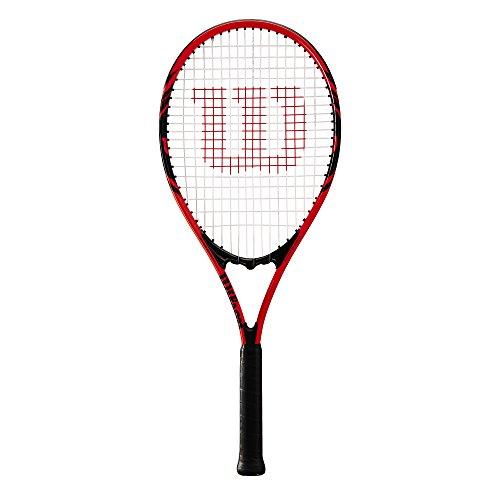Wilson Raqueta de Tenis, Federer, Unisex, Principiantes y Jugadores intermedios, Rojo/Negro, Tamaño de empuñadura L3
