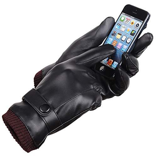 Detalles de los guantes de piel Laowwo