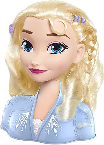 Busto Elsa de Frozen 2 con 14 diferentes accesorios con que peinarla. Para niños/as a partir de los 3 años