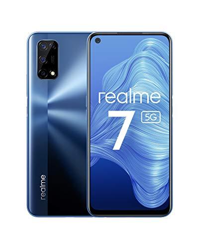 realme 7 5G - smartphone de 6.5, 6GB RAM + 128GB de ROM, 120Hz Ultra Smooth Display, 48MP Quad Camera, batería con 5000mAh y carga de 30W Dart Charge, Color Azul [Versión ES/PT]
