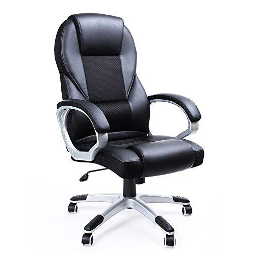 Descripción de la silla de escritorio Songmics PU OBG22B