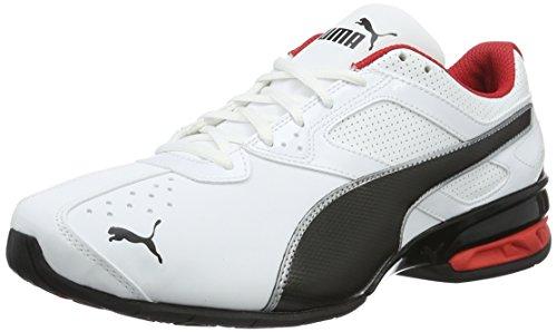 PUMA Tazon 6 FM, Zapatillas para Correr de Carretera para Hombre, Blanco (White-Black Silver), 44 EU
