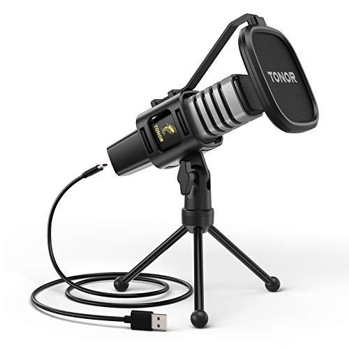 Detalle del micrófono USB Tonor T30