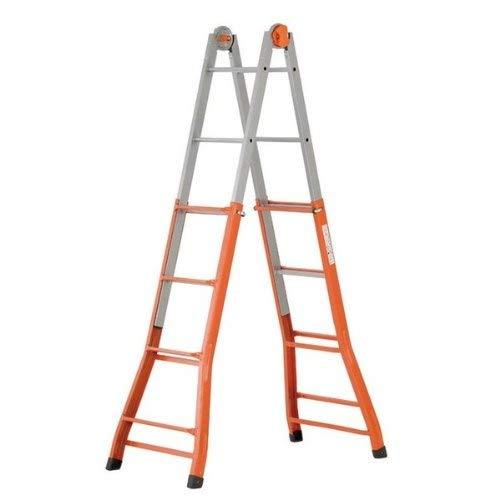 Gierre A0040 Escalera telescópica de acero (4+4), Naranja