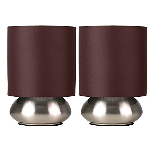 Detalles del set de dos lámparas de mesa Minisun