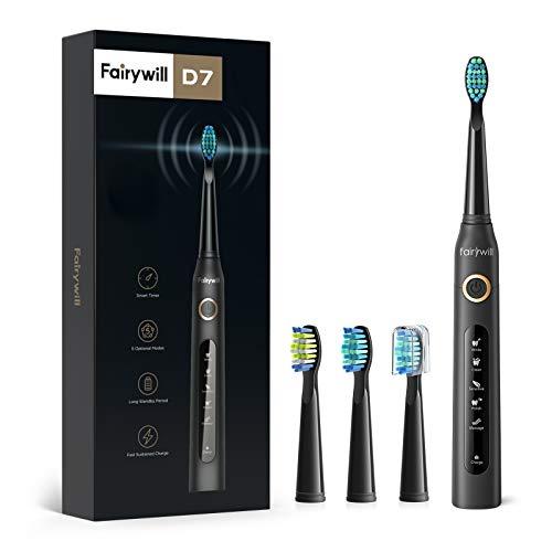 Detalles del cepillo de dientes eléctrico Fairywill FW507
