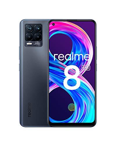 realme 8 Pro Smartphone Libre, Cámara cuádruple Ultra de 108 MP, Pantalla completa AMOLED superior de 6,4', Carga SuperDart de 50W, Batería de 4500 mAh, Dual Sim, 8+128GB, Negro (Infinite Black)