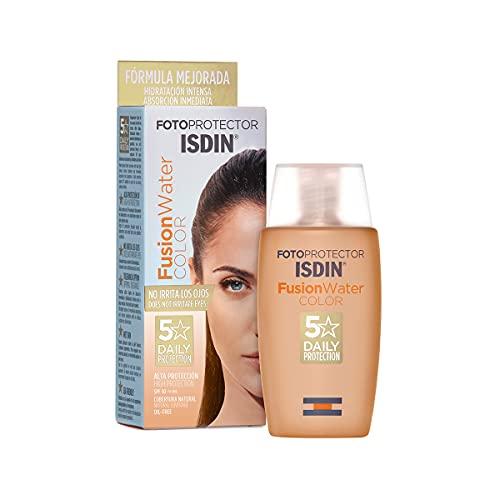 Detalles del protector solar  facial ISDIN Fusion Water Color