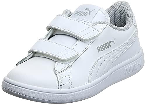 PUMA Smash V2 L V PS, Zapatillas, Blanco White White, 28 EU