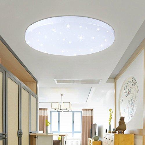 VINGO® 50W LED Moderno Lámpara De Techo Blanco Frío LED plafón Iiluminación Interior Lámpara de salón Pasillo Cocina Dormitorio cocina y cuarto de ninos LED