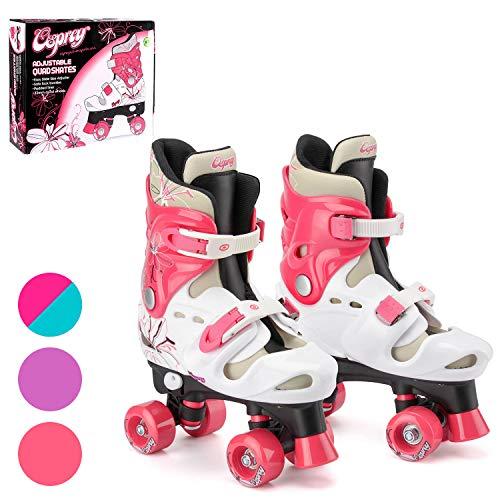 Detalles de los patines infantiles de cuatro ruedas Osprey