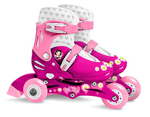 Stamp J100830 Adjustable Two in One 3 Wheels Skate Size 27-30, Rosa, Talla