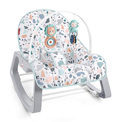 Fisher-Price Hammock with Relaxing Vibrations, Portable Folding Baby Stroller 0+ Months (Mattel GWD39)