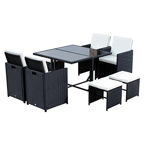 Detalles del conjunto de mesa y sillas Outsunny