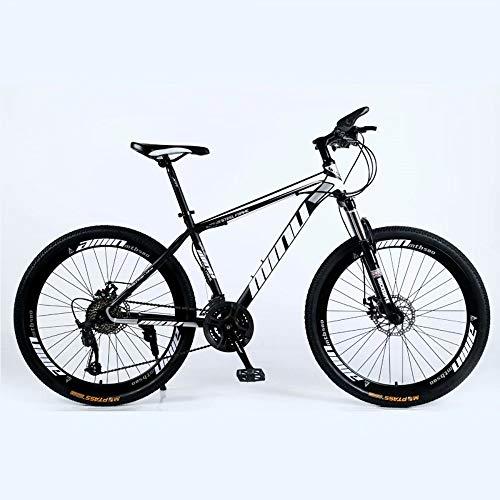 NOVOKART-Mountain Bike Unisex, Bicicletas Montaña 24 ', MTB Hombre, Mujer, Freno Doble Disco,Negro, 21-speed Shift, Rueda Radios