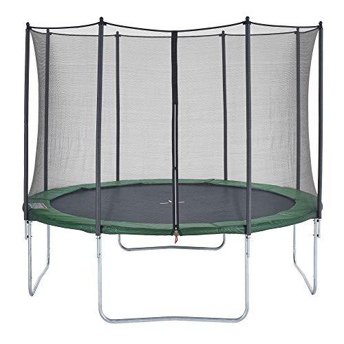 CZON SPORTS Trampoline - Cama elástica infantil, 360 cm (verde)