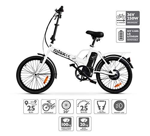 Descripción de la bicicleta eléctrica plegable Nilox X1