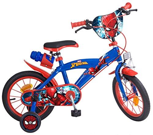 Toims 874 Spiderman - Bicicleta para niños, tamaño 14 pulgadas
