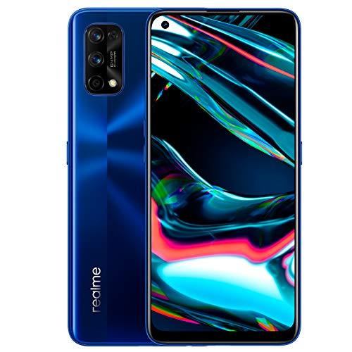 realme 7 Pro - Smartphone de 6.4', 8GB RAM + 128GB ROM, pantalla SuperAMOLED FHD+, procesador Octa-Core Snapdragon 720G., azul [Versión ES/PT]