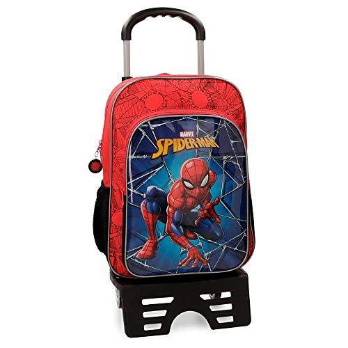 Detalles de la mochila escolar Spiderman Black