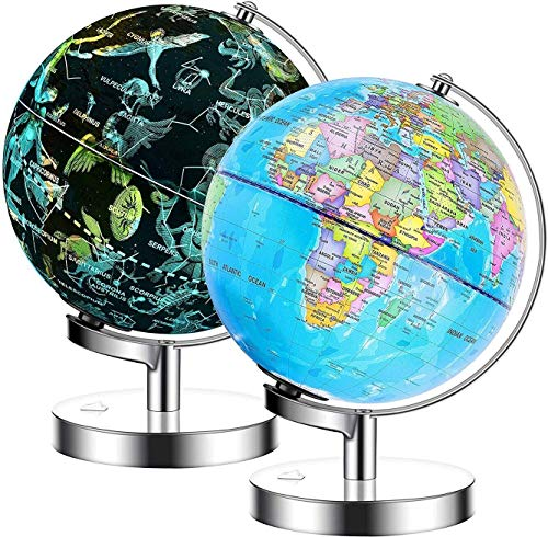 Descripción del globo terráqueo con iluminación Exerz