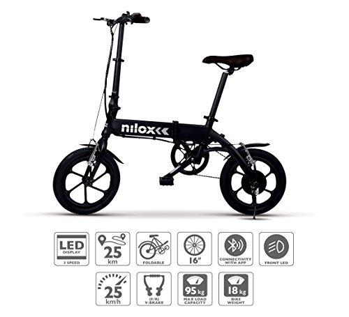 Descripción de la bicicleta eléctrica plegable Nilox X2