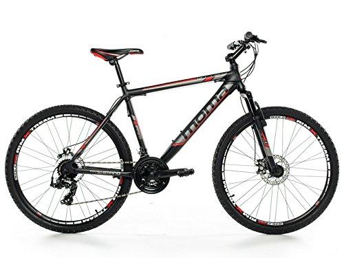 Moma Bikes MTB GTT -  Bicicleta 26' Btt Shimano profesional, Aluminio, Unisex Adulto, Negro , L (1,70-1,79 m)
