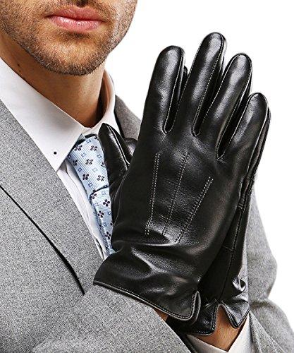 Detalles de los guantes de napa para hombre Harms