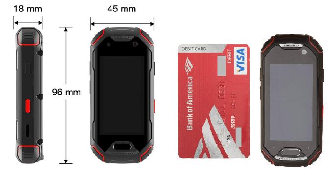 Dimensiones del smartphone Unihertz Atom
